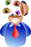 Eye brain Stock Image