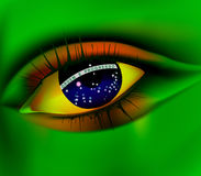 Eye of Brazil concept Brazil world cup 2014 Stock Photos