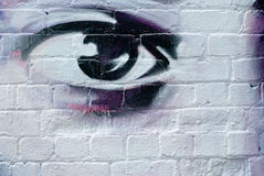 Eye on the Brick Wall Royalty Free Stock Images
