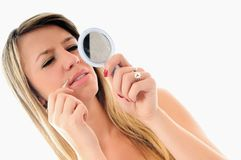 Eye brow beauty treatment Stock Photos