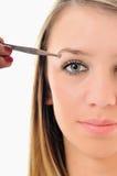 Eye brow beauty treatment Royalty Free Stock Photos