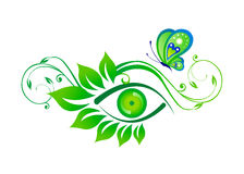 Eye and Butterfly Artwork Stock Images