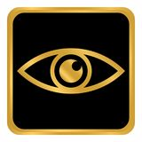 Eye button on white. Royalty Free Stock Images