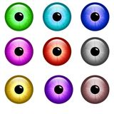 Eye buttons. Different colors. Good quality Royalty Free Stock Photography