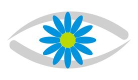 Eye Care / Clinic Logo 3. Logo for Eye Hospital / Eye Care Centre / Eye Clinic Royalty Free Stock Photography