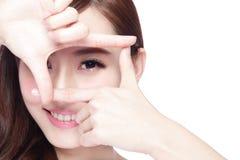 Eye care concept Stock Photography