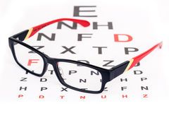 Eye care with glasses Royalty Free Stock Image
