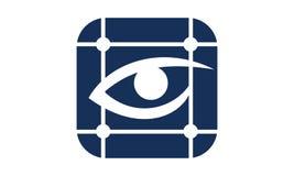 Eye Care Grid Scan. Logo Design Template Vector Stock Images