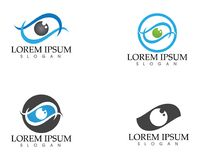 Eye care logo and symbols template vector icons app.  Royalty Free Stock Image