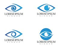 Eye care logo and symbols template vector icons app Royalty Free Stock Photography