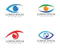 Eye care logo and symbols template vector icons app Royalty Free Stock Image