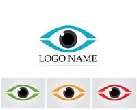 Eye care logo and symbols template vector icons app.  Royalty Free Stock Photos