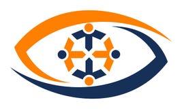 Eye Care Solutions. Logo Design Template Vector Royalty Free Stock Photos
