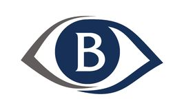 Eye Care Solutions Letter B Royalty Free Stock Images