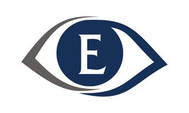 Eye Care Solutions Letter E Stock Photography