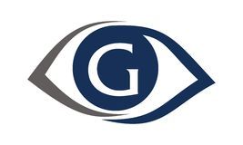 Eye Care Solutions Letter G Stock Photos