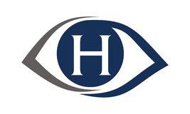 Eye Care Solutions Letter  H Stock Photos