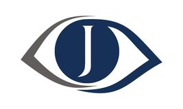 Eye Care Solutions Letter J Stock Photos