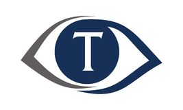 Eye Care Solutions Letter T Stock Images