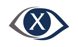 Eye Care Solutions Letter X Stock Images