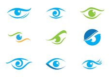 Eye Care vector logo design. Branding Identity Corporate Eye Care vector logo design Stock Photos