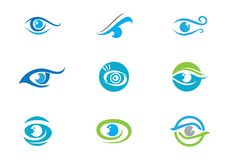 Eye Care vector logo design. Branding Identity Corporate Eye Care vector logo design Royalty Free Stock Photography