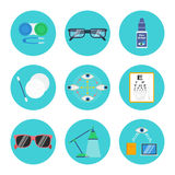 Eye care vector set Stock Photography