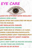 Eye care wellness related words Royalty Free Stock Photo