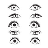 Eye cartoon line sketch shape  design abstract illustration Stock Images