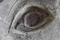 Eye Carved from Stone Royalty Free Stock Image