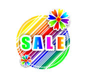 Eye-catching sale sign Royalty Free Stock Photos