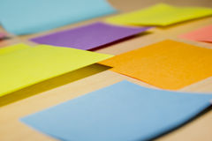 Eye catching sticky notes Royalty Free Stock Photography