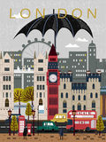 Eye-catching United Kingdom travel poster Royalty Free Stock Photos