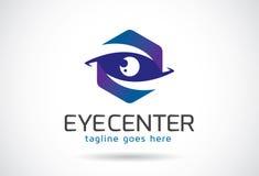 Eye Center Logo Template Design Vector, Emblem, Design Concept, Creative Symbol, Icon. This design suitable for logo, symbol, emblem or icon Royalty Free Stock Image