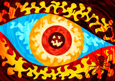 Eye of chaos Stock Photography