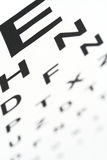 Eye chart. A eye chart with blurry small letters royalty free stock photo