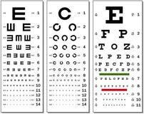 Eye Chart. Layered vector illustration of three kinds of Eye Chart Royalty Free Stock Image