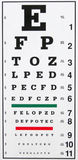 Eye Chart Stock Images