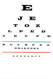 Eye chart. Medical eye chart test over white background Royalty Free Stock Photo