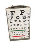 Eye chart. Examination chart stock photo