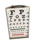 Eye chart. Examination chart Stock Photo