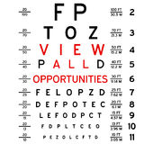 Eye chart. Abstract eye chart background design isolated on white Stock Photo