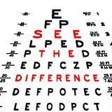 Eye chart. Abstract eye chart background design isolated on white Vector Illustration