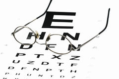 Eye chart with glasses Stock Image