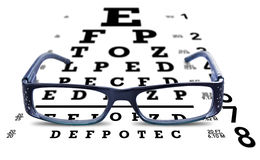 Eye Chart Glasses Spectacles Test Vision Stock Images