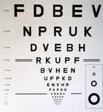 Eye chart. With letters and standard characters royalty free stock photo