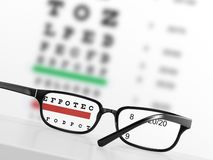 Eye chart Royalty Free Stock Photos