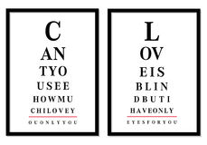 Eye chart pictures, vector Stock Images