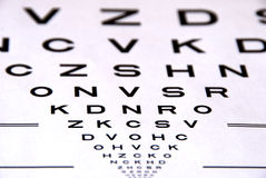 Eye chart test. For medical use Stock Photography