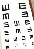 Eye-chart test Royalty Free Stock Photos